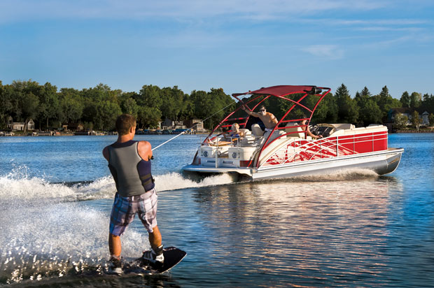 Pontoon boat all fun you can have on one my westshore for Cool fishing boat accessories
